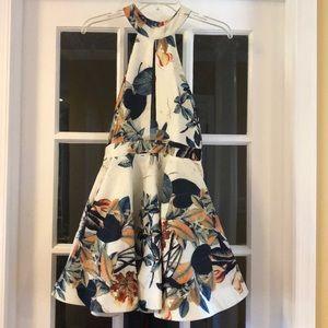 Luxxel | Tropical Print Halter Dress